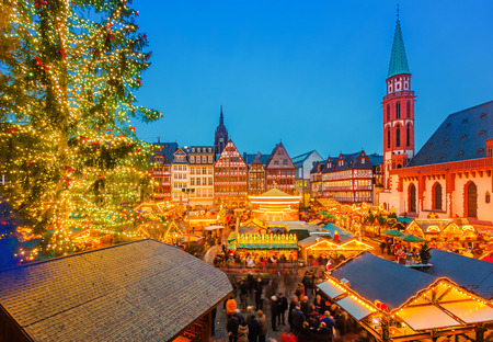 frankfurt: Christmas market in Frankfurt Stock Photo