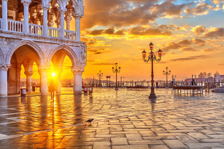 Sunrise in Venice Banque d'images
