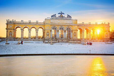 the gloriette: Gloriette at winter