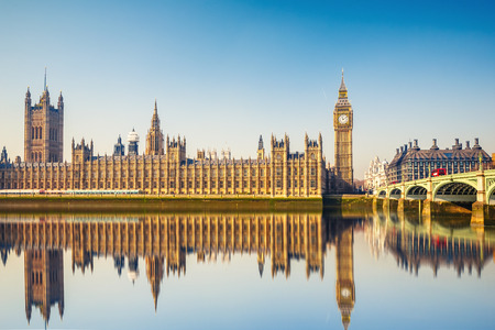 ビッグ ベンとロンドンの国会議事堂 写真素材
