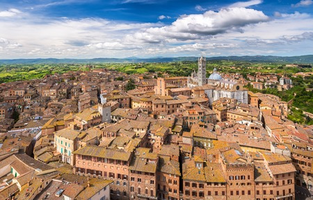 siena italy: Aerial view of Siena Stock Photo