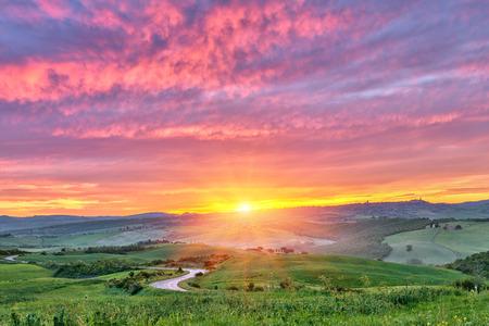 Tuscany sunrise Banco de Imagens