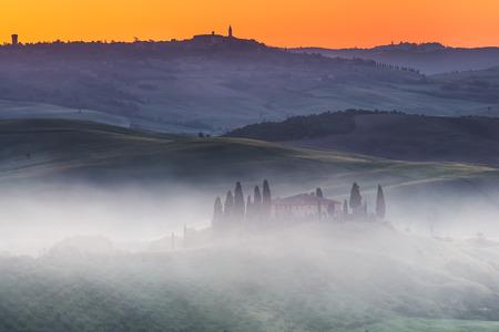 agriturismo: Tuscany sunrise Stock Photo