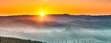 toscana: Tuscany sunrise Stock Photo