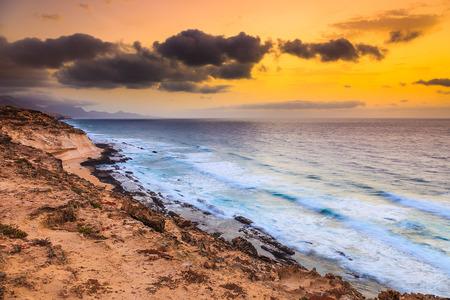 atlantic: Sunset over Atlantic ocean