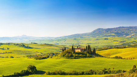 scenic landscape: Tuscany at spring