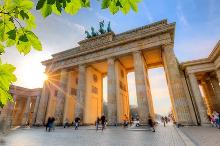 berlin: Brandenburg gate at sunset