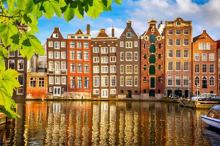 Staré budovy v Amsterdamu Reklamní fotografie