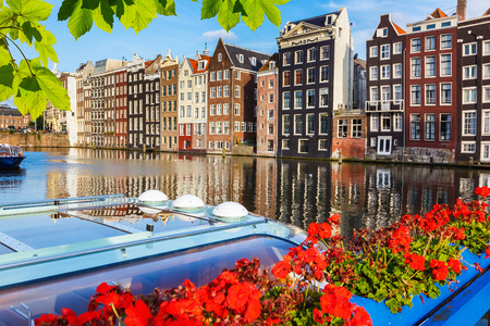 north holland: Traditional dutch buildings, Amsterdam
