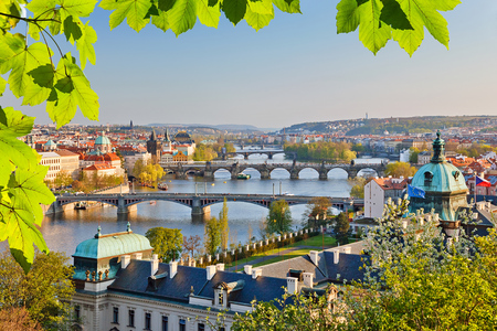 praha: Prague at sunset Stock Photo