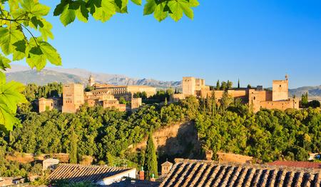 アルハンブラ宮殿、グラナダ、スペイン 写真素材