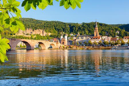 Brug in Heidelberg Stockfoto