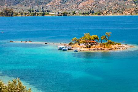 peloponnesus: Small island, Greece