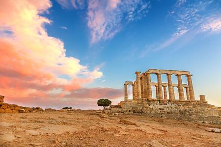 ruins: Ruins of Poseidon temple Stock Photo