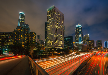 Los Angeles at night photo