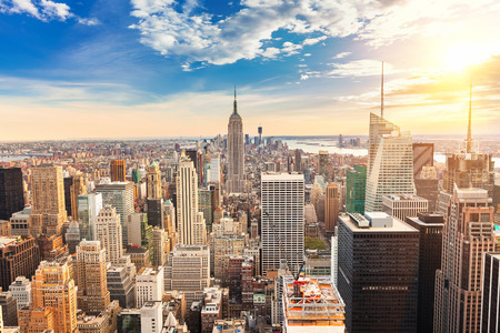 Manhattan vue aérienne Banque d'images - 38180754