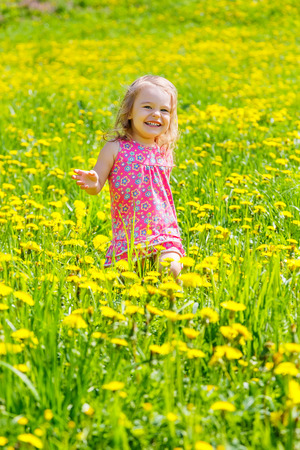 Little girl in the park photo