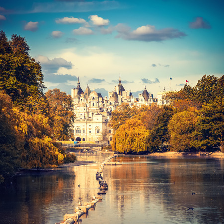 St james park in London, UK 免版税图像