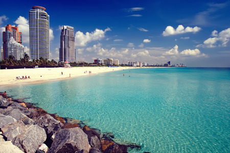 florida landscape: South Beach in Miami, Florida Stock Photo