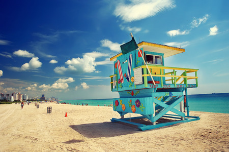 florida beach: South Beach in Miami, Florida Stock Photo