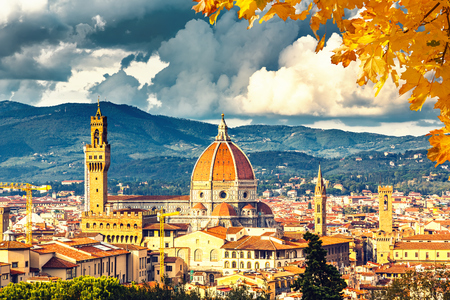 the tuscany: View on Florence and Duomo cathedral, Italy