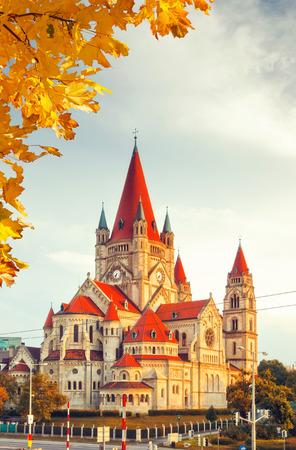 franz: Church Heiliger Franz of Assisi at Mexikoplatz, Vienna, Austria