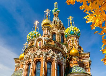 Kerk van de Heiland op gemorst bloed in St. Petersburg, Rusland Redactioneel
