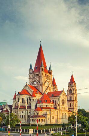 assisi: Church Heiliger Franz of Assisi at Mexikoplatz, Vienna, Austria