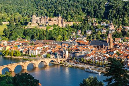 Bekijk op Heidelberg zomer, Duitsland Stockfoto