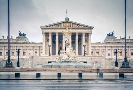 Oostenrijkse Parlement in Wenen, Oostenrijk Redactioneel
