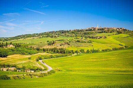 pienza: View of Pienza in Tuscany, Italy Stock Photo