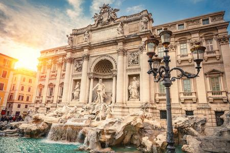 fountain: Fountain di Trevi in Rome, Italy Stock Photo