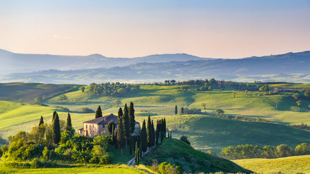 italian landscape: Beautiful spring landscape in Tuscany, Italy