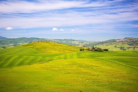 agriturismo: Beautiful tuscany landscape at spring , Italy Stock Photo