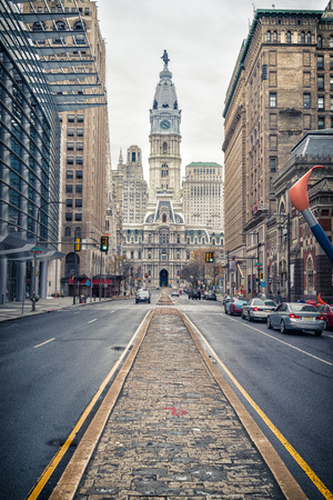 Philadelphias historic City Hall building Reklamní fotografie
