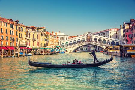rialto: Gondola near Rialto Bridge in Venice, Italy