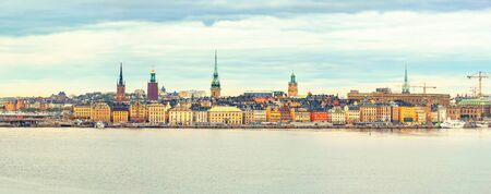 stan: Panorama of the Old Town (Gamla Stan) in Stockholm, Sweden