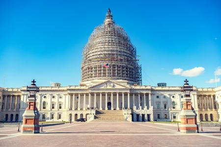 US Capitol en construction, Washington DC Banque d'images - 58620612