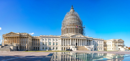 us capitol: Panoramic view of the US Capitol in Washington, DC Stock Photo