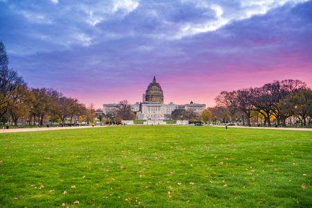 us capitol: Sunrise over US Capitol in Washington, DC Stock Photo