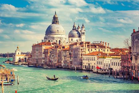 canal street: Grand Canal and Basilica Santa Maria della Salute in Venice