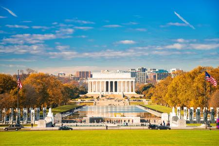 Lincoln mémorial et piscine à Washington DC, Etats-Unis Banque d'images - 64819714