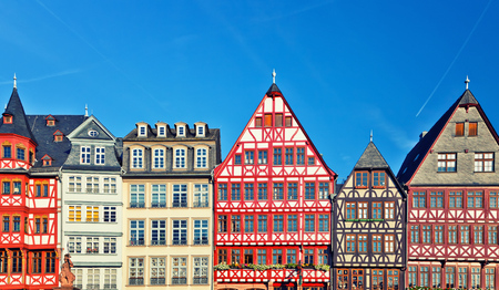 Old traditional buildings in Frankfurt, Germany