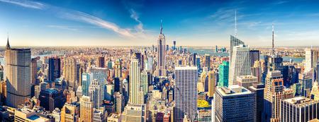 New York City Manhattan aerial view