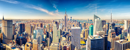 New York City Manhattan vue aérienne Banque d'images - 64819820