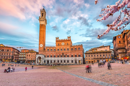 Piazza del Campo in Siena, Italy Stock Photo