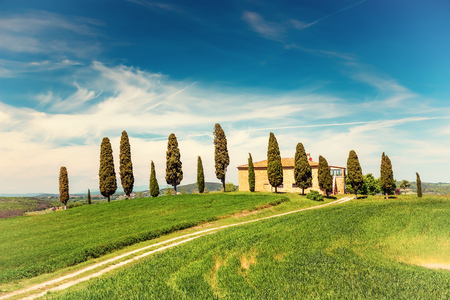 Tuscany landscape at spring , Italy