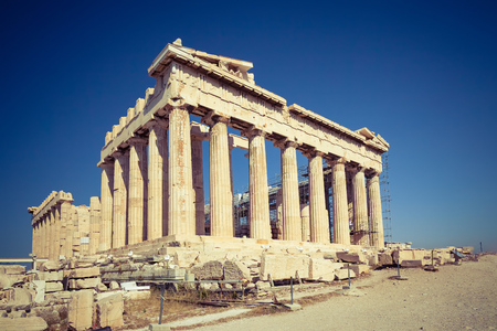 View on Parthenon in Acropolis of Athens, Greece