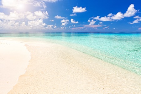 Beautiful ocean beach on Maldives Banque d'images