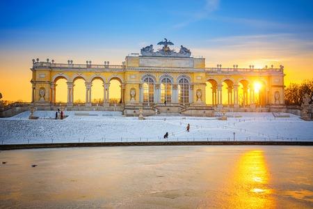 Gloriette in Schonbrunn Palace at winter, Vienna, Austria Editorial